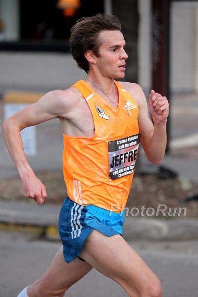 Jeffrey Eggleston at the 2015 U.S. Half-Marathon Championship