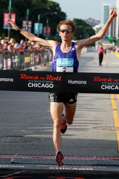 Jeffrey Eggleston wins the Humana Rock 'n' Roll Half Marathon