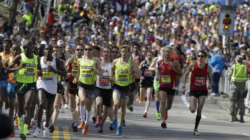 Eggleston Boston Marathon Start