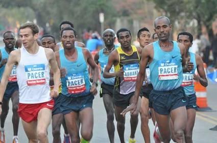 Eggleston pacing at Houston Marathon